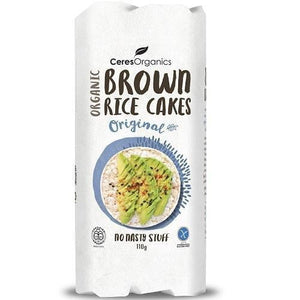 Ceres Organics Rice Cakes Salted (Brown Jasmine Rice)