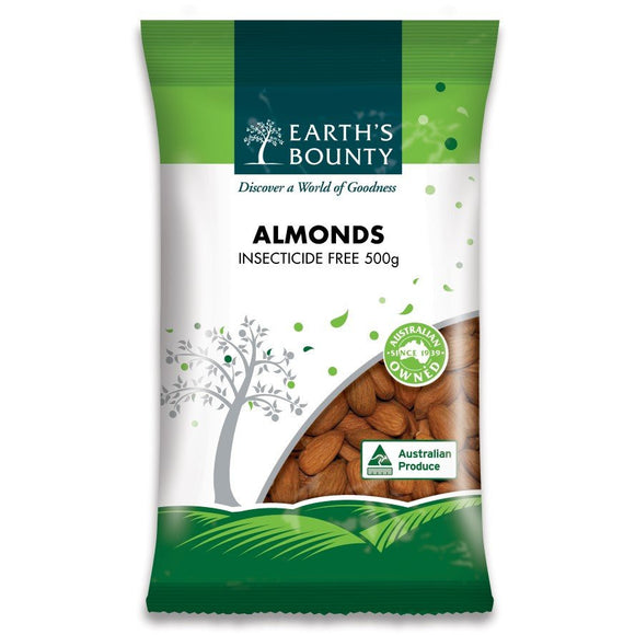 Earth Bounty Insecticide Free Almonds 500g