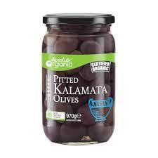 Absolute Organic Greek Pitted Kalamata Olives 970g
