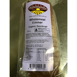 Organic Sourdough Emmer Wholemeal Bread - 700g