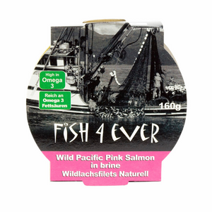 Fish4Ever Wild Pacific Pink Salmon Fillets in Brine - 160g
