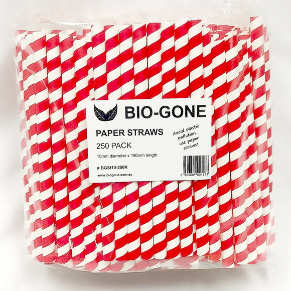 Paper Straws Red x25
