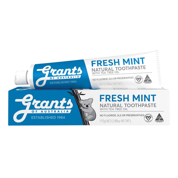 Grants Natural Toothpaste Fresh Mint with Tea Tree Oil - 110g