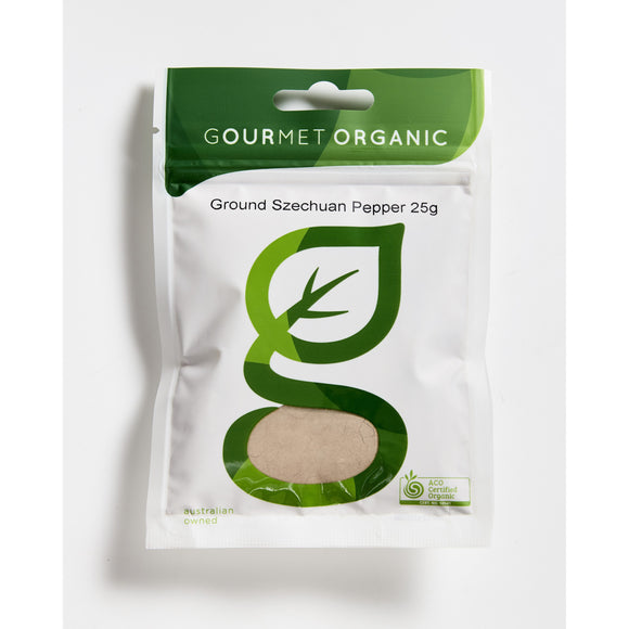 Ground Szechuan Pepper 25g sachet - Gourmet Organic