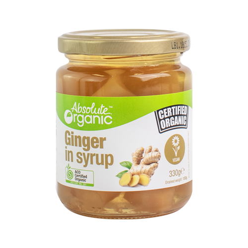 Absolute Organic Ginger in Syrup 330g