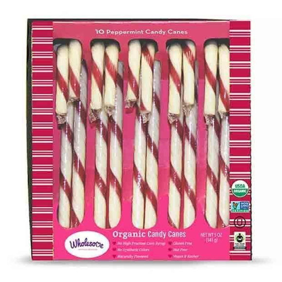 Wholesome Organic Candy Canes x10