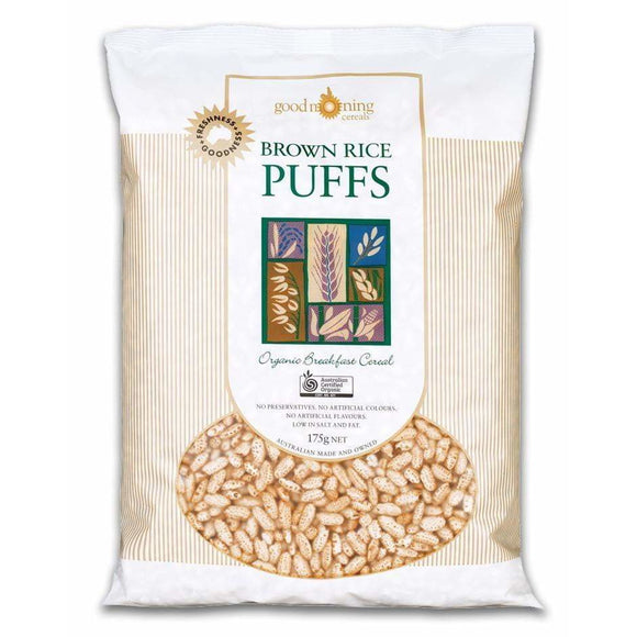 Good Morning Cereals Brown Rice Puffs Organic 175g RRP $5.95