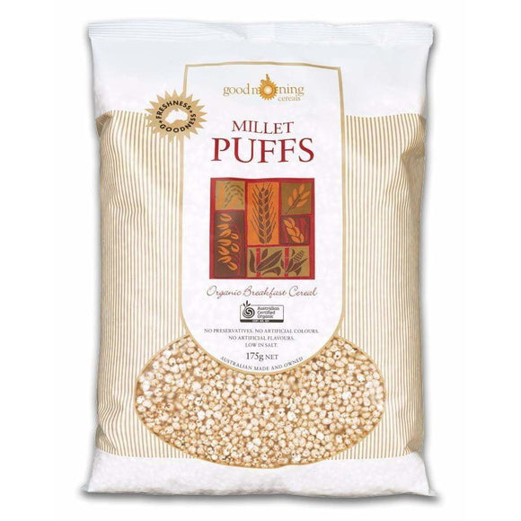Good Morning Cereals Millet Puffs Organic 175g RRP $5.95