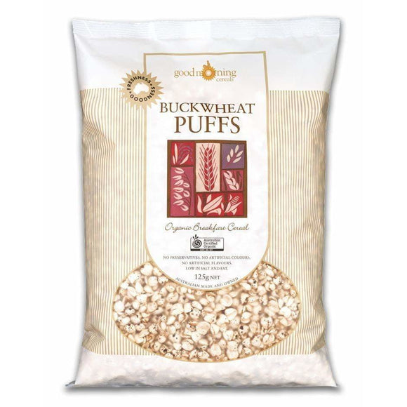 Good Morning Cereals Buckwheat Puffs Organic 125g RRP $5.95