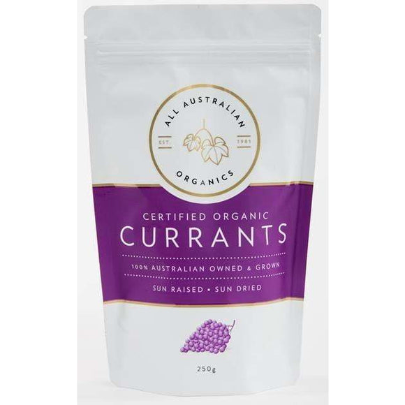 All Australian Organics Currants 250g