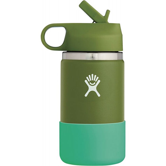 Hydro Flask Wide Mouth Kids Bottle Straw Lid Double Insulated - 354ml