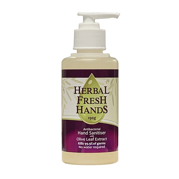 Herbal Fresh Hands Antibacterial Hand Sanitiser with Olive Leaf Extract 190g