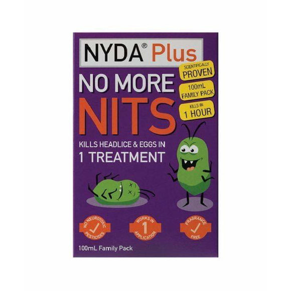 NYDA Plus No More Nits 100ml (family pack)