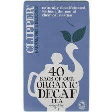 ** Clipper Organic Decaf Tea 40 tea bags