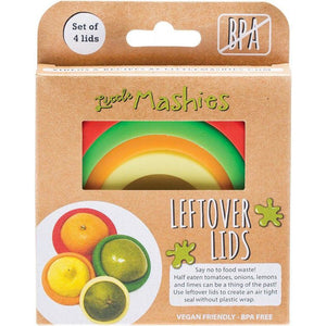 Little Mashies Leftover Lids Reusable Food Covers - Set of 4