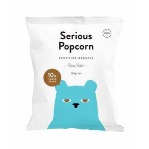 Serious Popcorn Organic Sea Salt MULTI Pack 10 x 12g