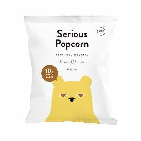Serious Popcorn Organic Sweet & Salty MULTI Pack 10 x 12g