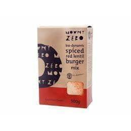 Mount Zero Biodynamic Spiced Red Lentil Burger Mix 500g