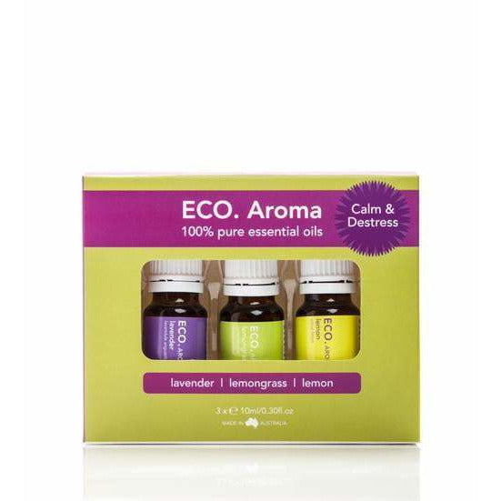 Eco Aroma Calm & De-Stress Trio Pack (RRP value $40)