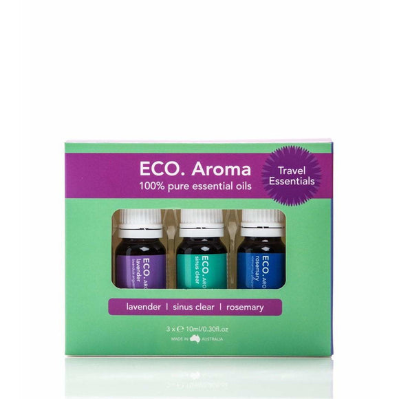 Eco Aroma Travel Essentials Trio Pack - 3x10ml