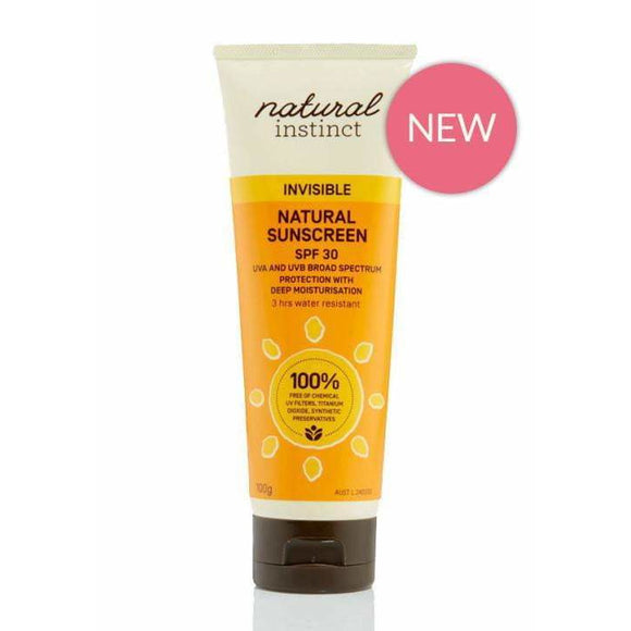 Natural Instinct Natural Sunscreen Invisible SPF 30 100g