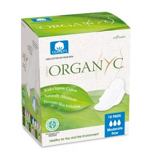 Organyc  Pads - Moderate Flow with Wings 10pk