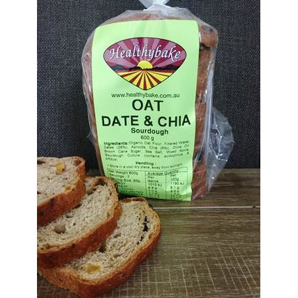 Organic Sourdough Oat/Date Chia Bread - 600g