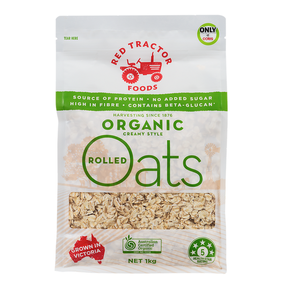 Red Tractor Organic Rolled Oats 1kg