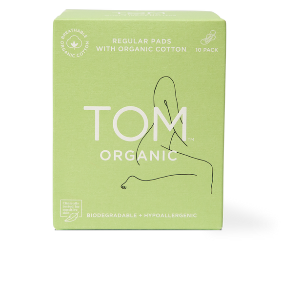 TOM Organic Cotton Regular Pads - 10 pack