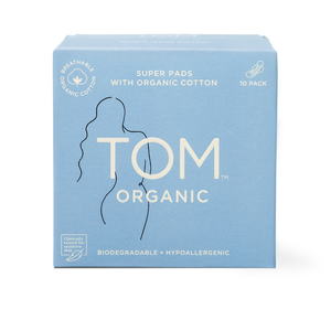 TOM Organic Cotton Super Pads - 10 pack