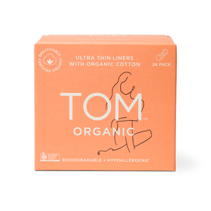 TOM Organic Cotton Pads Panty Liners - 26 pack