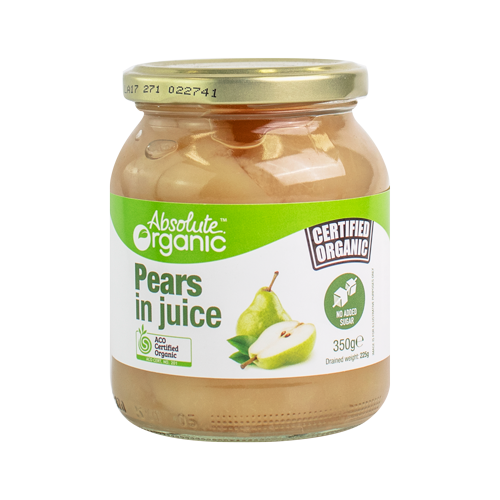 Absolute Organic Pears in Juice 350g
