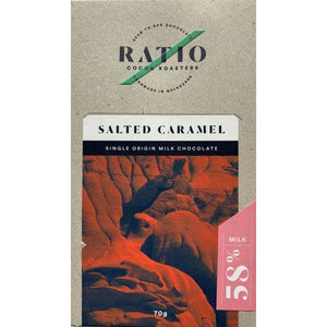 Ratio Cocoa Roasters Salted Caramel Chocolate  58% - 70g