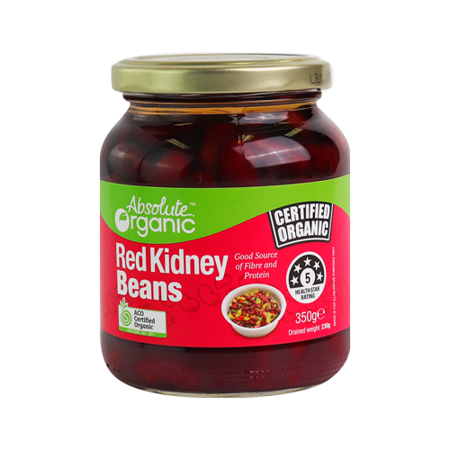 Organic Red Kidney Beans Glass jar 350g (BPA free)