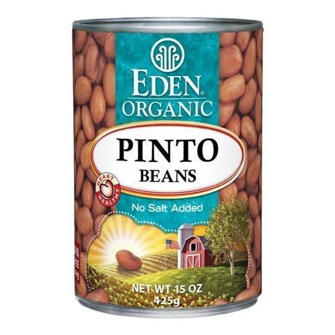 Eden Organic Refined Pinto Beans Lightly Salted 454g (BPA free lining)