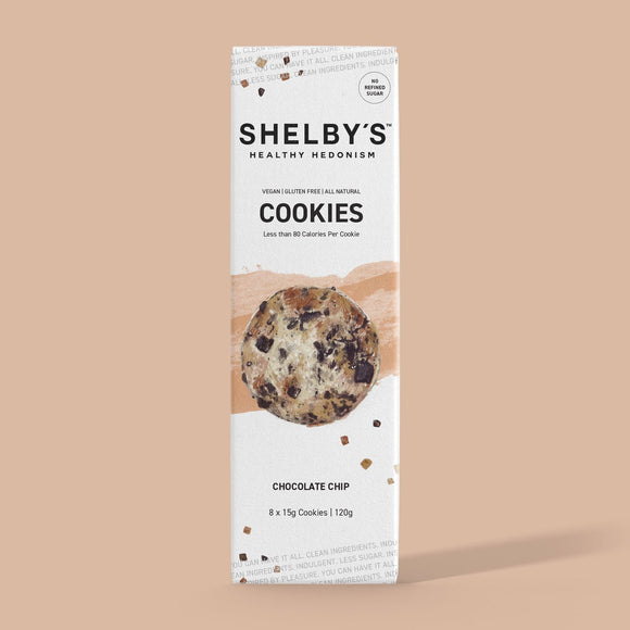 Shelby's Healthy Hedonism Choc Chip Cookies 120g (GF&VEGAN)