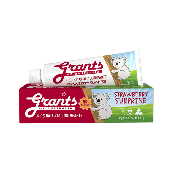 Grants Kids Natural Toothpaste Strawberry Surprise - 75g