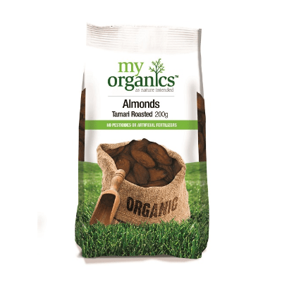 My Organics Tamari Roasted Almonds 200g