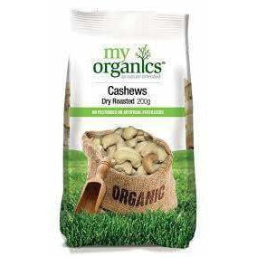 My Organics Cashews Dry Roasted 200g