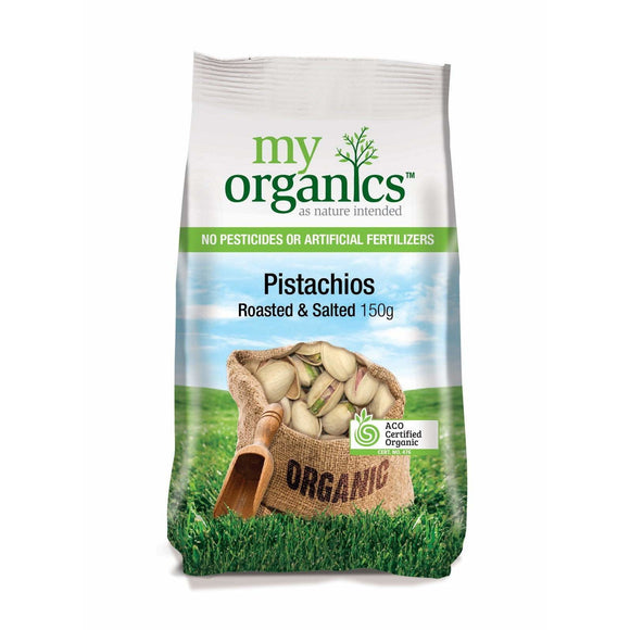 My Organics Pistachios Dry Roasted & Salted 150g