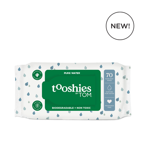Tooshies by TOM Baby Wipes 99% Pure Water - 70s wipes