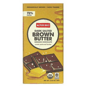 Alter Eco Dark Salted Brown Butter Organic Chocolate 70% 80g