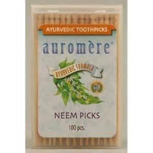 Auromere Neem Picks 100 Pack