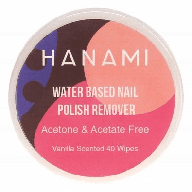 Hanami Water Based Nail Polish Remover Wipes x40