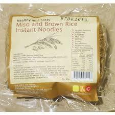 Nutritionist Choice Miso and Brown Rice Instant Noodles 60g