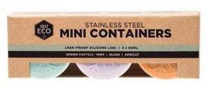 Ever Eco Stainless Steel Mini Containers Spring Pastels - Set of 3