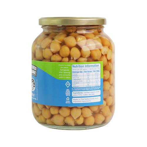 Organic Chickpeas 350g (glass jar)