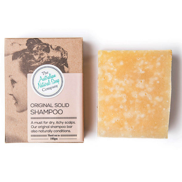 The Aust. Natural Soap Co Solid Shampoo Bar Original 100g