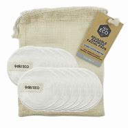 EVER ECO Reusable Bamboo Facial Pads With Cotton Wash bag