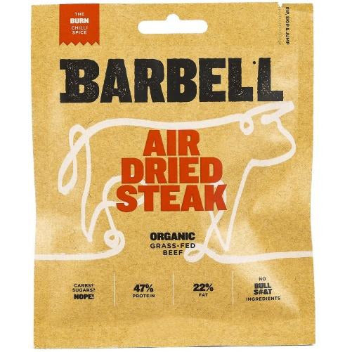 ** BARBELL Organic Air Dried Steak -Burn Biltong 70g
